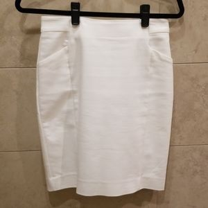 H&M White Pencil Skirt with Pockets